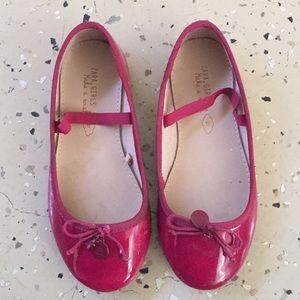 Zara girls magenta ballet flats
